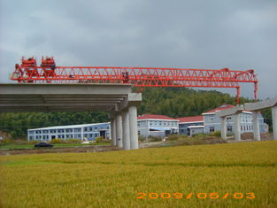 Chiny OEM Durable And Reliable Travelling Steel launching Gantry Crane For Railway Construction dostawca