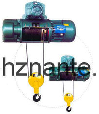 5 Tons Electric Wire Rope Underhang Hoist CD / MD Lifting Equipment CE Passed