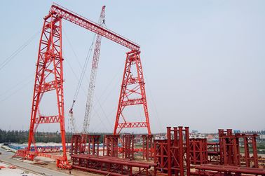 Chiny QME120t - 78m - 65m Truss Girder Outdoor Long Span Gantry Crane fabryka